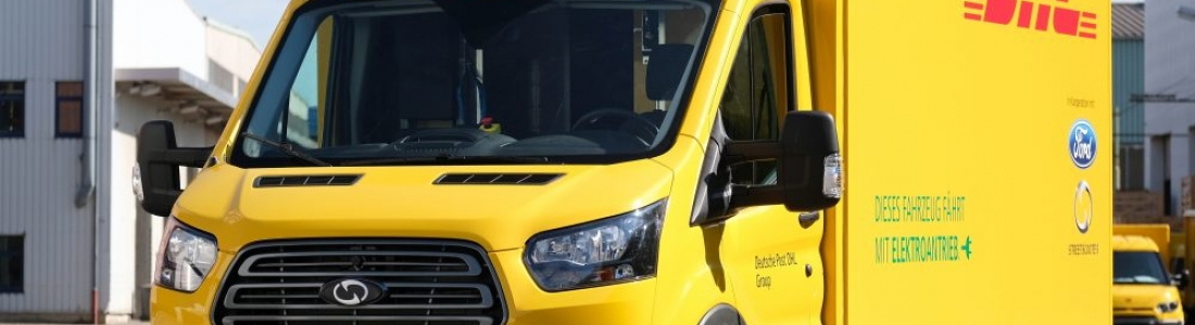 Ford unveils its new electric truck made with DHL