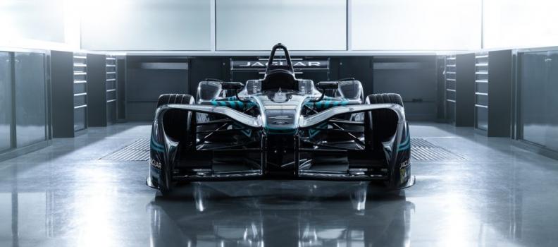 Jaguar unveiled its all-electric race car for the Formula E