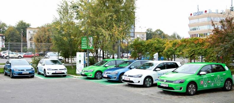 Șase mașini electrice vor traversa România, de la București la Timișoara în Caravana Electric Drive