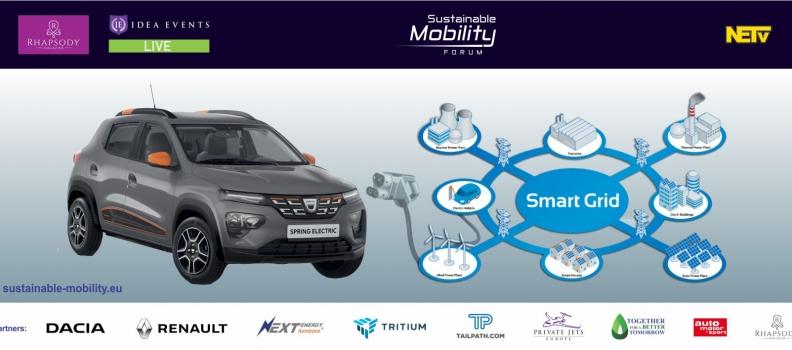 In premiera in Romania, noutati despre Dacia Spring si statiile de incarcare TRITIUM, la Sustainable Mobility Forum LIVE ONLINE 17 noiembrie